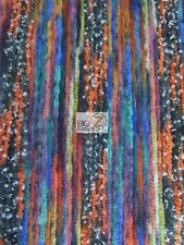 "INDIAN PONCHO STATE WOOL FABRIC - Multi-Color - 60"" WIDE KNITTED APPAREL MEXICAN"