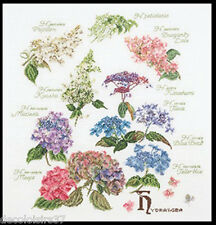 Thea Gouverneur  3067  Hydrangea Panel  Lin  Kit  Point de Croix  Compté