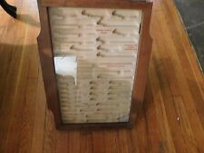 Vtg Hardware Store Wooden Counter/Wall Display Case Blades