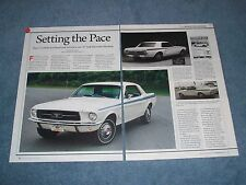 "1967 Indy Pacesetter Mustang Coupe Article ""Setting the Pace"""
