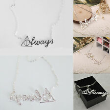 Newest Harry Potter Death Hollow Pendant Always Triangle Necklace JewelryTrendy