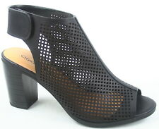 NEW Women's Sling back Peep Toe Stacked Heels Sandal Booties Shoes Size 5.5 - 11