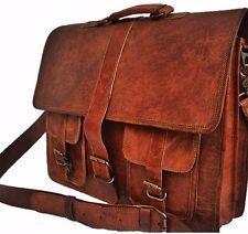 Popular Men's Vintage Genuine Leather Messenger Briefcase Laptop Shoulder Bag