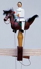 Wolfgang Werner German Wooden Toy - Pendelreiter - Medical Doctor on Brown Horse