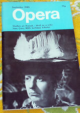 OPERA MAGAZINE, SEPTEMBER 1980, STADLEN ON KRENEK, JOAN CROSS