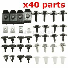 40x Engine Under tray Cover Clips Bottom Shield Guard Screws For TOYOTA AVENSIS