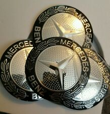 4 x MERCEDES Wheel Hub Caps Badge Emblem Sticker AMG METAL 56mm HIGH QUALITY UK