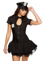 Ann Summers Womens Sergeant Frisky Black Sexy Costume Outfit Fancy Dress