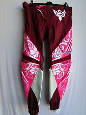 "Fly Racing KINETIC WOMENS LADIES motocross pants sz 5/6 or 32"" pnk/wht NEW"