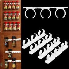 4 Sets Kitchen Clip Spice Gripper Jar Rack Storage Holder Wall Cabinet Door YK