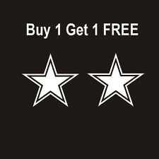 DALLAS COWBOYS STAR Vinyl Decals (2)  Pair of Decals - WoW - White Cowboys NFL