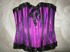 Stunning purple / pink overbust corset / basque for burlesque / evening wear