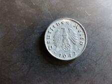 Pièce monnaie ALLEMAGNE GERMANY DEUTSCHLAND 10 PF DEUTSCHES REICH 1942 2