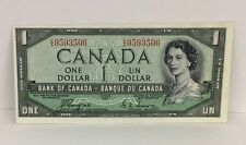 1954 Canada $1 Devil's Face Note With Cutting Error - Coyne/Towers