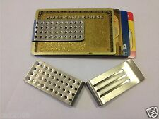 Strong Stainless Steel Money Clip Holder Slim Man Credit Card ID Wallet Gift UK