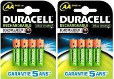 8 x AA Duracell 2400 mAh Duralock Rechargeable Batteries Battery Digital Cameras