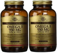 Solgar Omega-3 950 mg 100 softgels (2 Pack)