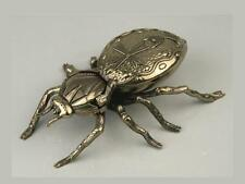 "SPIDER METAL ASHTRAY ANIMAL INSECT - GOLD COLORED - 7.48"" (19cm) ** NEW **"