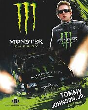 TOMMY JOHNSON 2008 MONSTER Energy Drink NHRA Racing Funny Car HANDOUT-POSTCARD