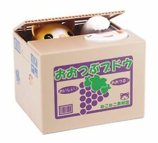 Itazura Coin Bank Automated Kitty Cat Stealing Money Piggy Bank Chatora