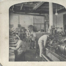 STEREOVIEW OF MEN PRINTING THE SEARS ROEBUCK   COMPANY - CHICAGO, ILL