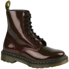 NIB Ladies DR MARTENS Cherry Red Patent PASCAL 8 Eye Boots - Size 11 US
