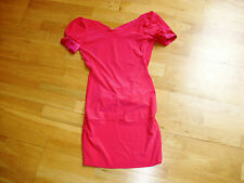 Ladies sexy cerise pink bodycon bare back mini dress size 8 excellent condition