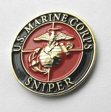 USMC MARINES MARINE CORPS SNIPER SPECIAL OPS LAPEL PIN BADGE 1 INCH