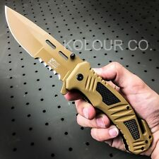 MTECH COMBAT ARMY Spring Assisted Open Tactical Rescue Folding POCKET KNIFE EDC
