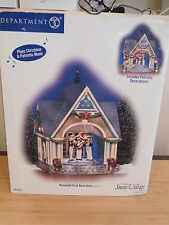 Dept 56 Snow Village - Roosevelt Park Band Shell - Set of 2 - Musical - NIB