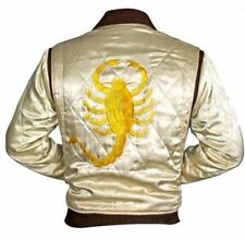 Men's Designer Drive Scorpion Stylish Satin Fitted Ryan Gosling Movie Jacket