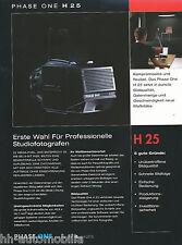 Prospetto Phase One h25 Digital BACK medio formato telecamere 9/03 D brochure OPUSCOLO