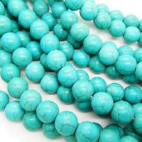Semi Precious Gemstone Turquoise Round Beads for Shamballa Bracelet Making Craft