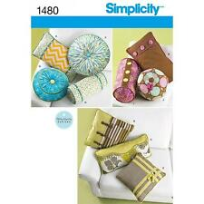 SIMPLICITY SEWING PATTERN DECORATIVE PILLOWS & NECK ROLLS 1480