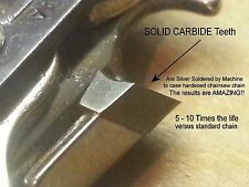 "SOLID CARBIDE Chainsaw Chain for 20"" Husqvarna Rancher 55 450 455 H80-072 VIDEO"