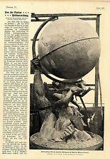 Riesenglobus zur Pariser Weltausstellung v. Bildhauer Ernst Wenck Berlin 1908
