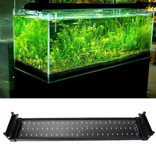11W 72LEDS 50-70CM Aquarium Fish Tank Over Head SMD LED Lamp Light White+Blue