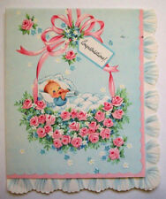 Vintage New baby congratulations unused greeting card  *U
