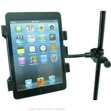 "Tablet PC Holder Mount for Music Microphone Stands fits 7"" to 10.1"" Models."