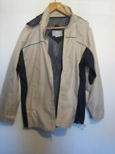 A SEA TO SKY NEW ZEALAND SILVER FERN HOODED RAIN COAT SIZE LARGE ZIP FASTENER