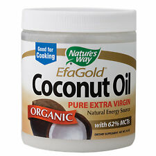 Natures Way Organic Pure Extra Virgin Coconut Oil - 16 oz Solid