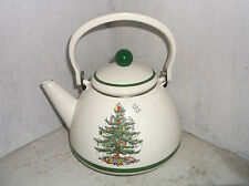 Spode CHRISTMAS TREE Metal Teapot 2 1/2 qt