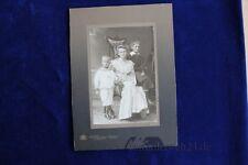 altes Foto CDV Frau mit Kindern Jugendstil um 1890 Kaufbeuern Sägemühle