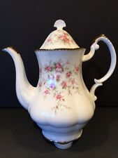 PARAGON ENGLISH CHINA COFFEE POT VICTORIANA ROSE EXCELLENT CONDITION (Teapot)