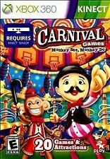 NIP CARNIVAL GAMES MONKEY SEE DO XBOX 360 KINECT!  RACE, DANCE, ALLEY BALL! FUN!