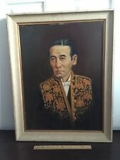 Vintage JJ MITCHELL SIGNED Torero Bullfighter Portrait Oil Painting on Canvas