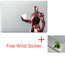 Iron Man Apple Macbook Air Pro 13 13.3  Vinyl Sticker Skin Decal Cover + Hulk