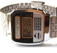 NEW OLD STOCK VINTAGE CORNAVIN RUSSIAN DIGITAL LCD MEN'S WRIST WATCH EXCELLENT