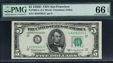 $5 1950D San Francisco FRN. PMG 66 EPQ. Near Top Pop.