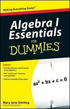 Algebra I Essentials for Dummies by Mary Jane Sterling (2010, Paperback)